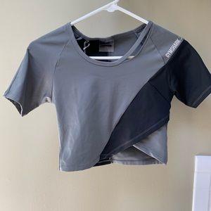 NWT gymshark asymmetrical top